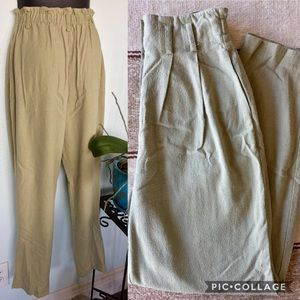 Vintage Paper Bag Pleated Trousers